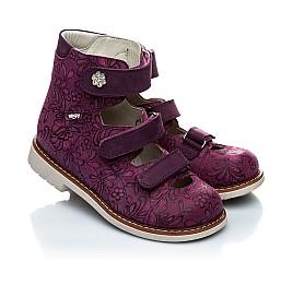 Детские ортопедические туфли (с высоким берцем) Woopy Orthopedic фиолетовый для девочек натуральная кожа размер - (1116) Фото 1