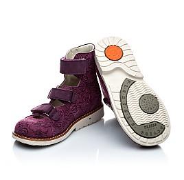 Детские ортопедические туфли (с высоким берцем) Woopy Orthopedic фиолетовый для девочек натуральная кожа размер - (1116) Фото 2