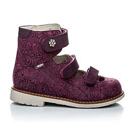 Детские ортопедические туфли (с высоким берцем) Woopy Orthopedic фиолетовый для девочек натуральная кожа размер - (1116) Фото 4