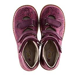 Детские ортопедические туфли (с высоким берцем) Woopy Orthopedic фиолетовый для девочек натуральная кожа размер - (1116) Фото 5