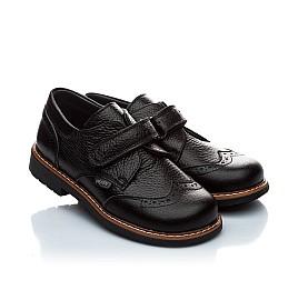 Детские ортопедические туфли Woopy Orthopedic черный для мальчиков натуральная кожа размер - (1118) Фото 1