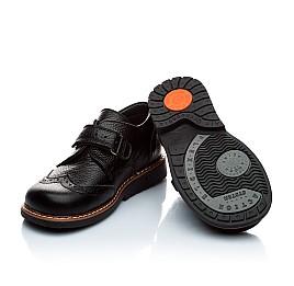 Детские ортопедические туфли Woopy Orthopedic черный для мальчиков натуральная кожа размер - (1118) Фото 2
