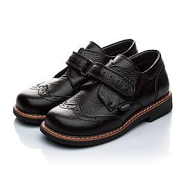 Детские ортопедические туфли Woopy Orthopedic черный для мальчиков натуральная кожа размер - (1118) Фото 4