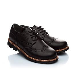 Детские туфли (шнурок резинка) Woopy Orthopedic черный для мальчиков натуральная кожа размер - (1119) Фото 1