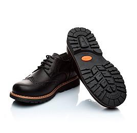 Детские туфли (шнурок резинка) Woopy Orthopedic черный для мальчиков натуральная кожа размер - (1119) Фото 2