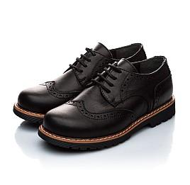 Детские туфли (шнурок резинка) Woopy Orthopedic черный для мальчиков натуральная кожа размер - (1119) Фото 3