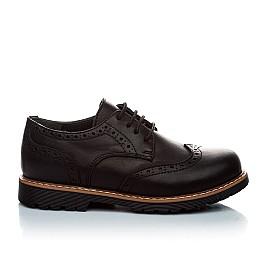 Детские туфли (шнурок резинка) Woopy Orthopedic черный для мальчиков натуральная кожа размер - (1119) Фото 4
