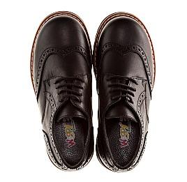 Детские туфли (шнурок резинка) Woopy Orthopedic черный для мальчиков натуральная кожа размер - (1119) Фото 5