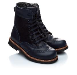 Детские демисезонные ботинки Woopy Orthopedic темно-синие для девочек натуральная кожа размер 21-21 (1123) Фото 1