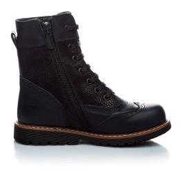 Детские демисезонные ботинки Woopy Orthopedic темно-синие для девочек натуральная кожа размер 21-21 (1123) Фото 2