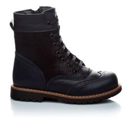 Детские демисезонные ботинки Woopy Orthopedic темно-синие для девочек натуральная кожа размер 21-21 (1123) Фото 3
