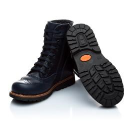 Детские демисезонные ботинки Woopy Orthopedic темно-синие для девочек натуральная кожа размер 21-21 (1123) Фото 4