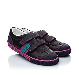 Детские кроссовки Woopy Orthopedic черный, фиолетовый для девочек натуральная кожа и нубук размер - (1133) Фото 1