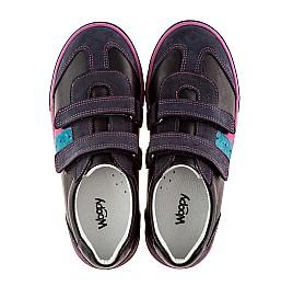 Детские кроссовки Woopy Orthopedic черный, фиолетовый для девочек натуральная кожа и нубук размер - (1133) Фото 2