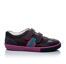 Детские кроссовки Woopy Orthopedic черный, фиолетовый для девочек натуральная кожа и нубук размер - (1133) Фото 3