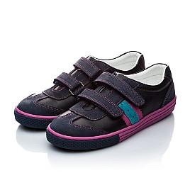 Детские кроссовки Woopy Orthopedic черный, фиолетовый для девочек натуральная кожа и нубук размер - (1133) Фото 4