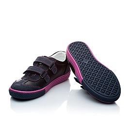 Детские кроссовки Woopy Orthopedic черный, фиолетовый для девочек натуральная кожа и нубук размер - (1133) Фото 5