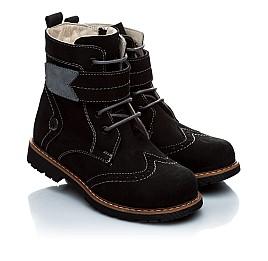 Детские зимние ботинки на меху Woopy Orthopedic черный для девочек натуральный нубук размер - (1158) Фото 1