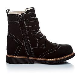 Детские зимние ботинки на меху Woopy Orthopedic черный для девочек натуральный нубук размер - (1158) Фото 2