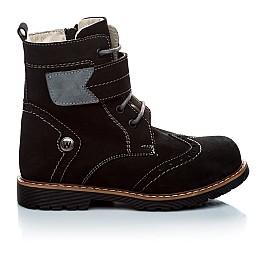 Детские зимние ботинки на меху Woopy Orthopedic черный для девочек натуральный нубук размер - (1158) Фото 3