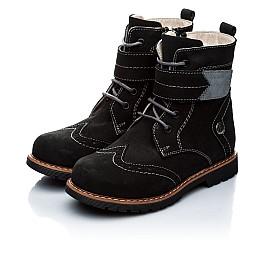 Детские зимние ботинки на меху Woopy Orthopedic черный для девочек натуральный нубук размер - (1158) Фото 4