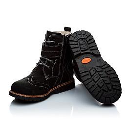 Детские зимние ботинки на меху Woopy Orthopedic черный для девочек натуральный нубук размер - (1158) Фото 5