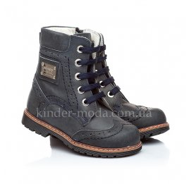 Детские зимние ботинки на меху Woopy Orthopedic синий для мальчиков кожа размер - (1189) Фото 1