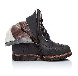 Детские зимние ботинки на меху Woopy Orthopedic синий для мальчиков кожа размер - (1189) Фото 2