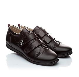 Детские туфли Woopy Orthopedic черный для мальчиков натуральная кожа размер - (1393) Фото 1