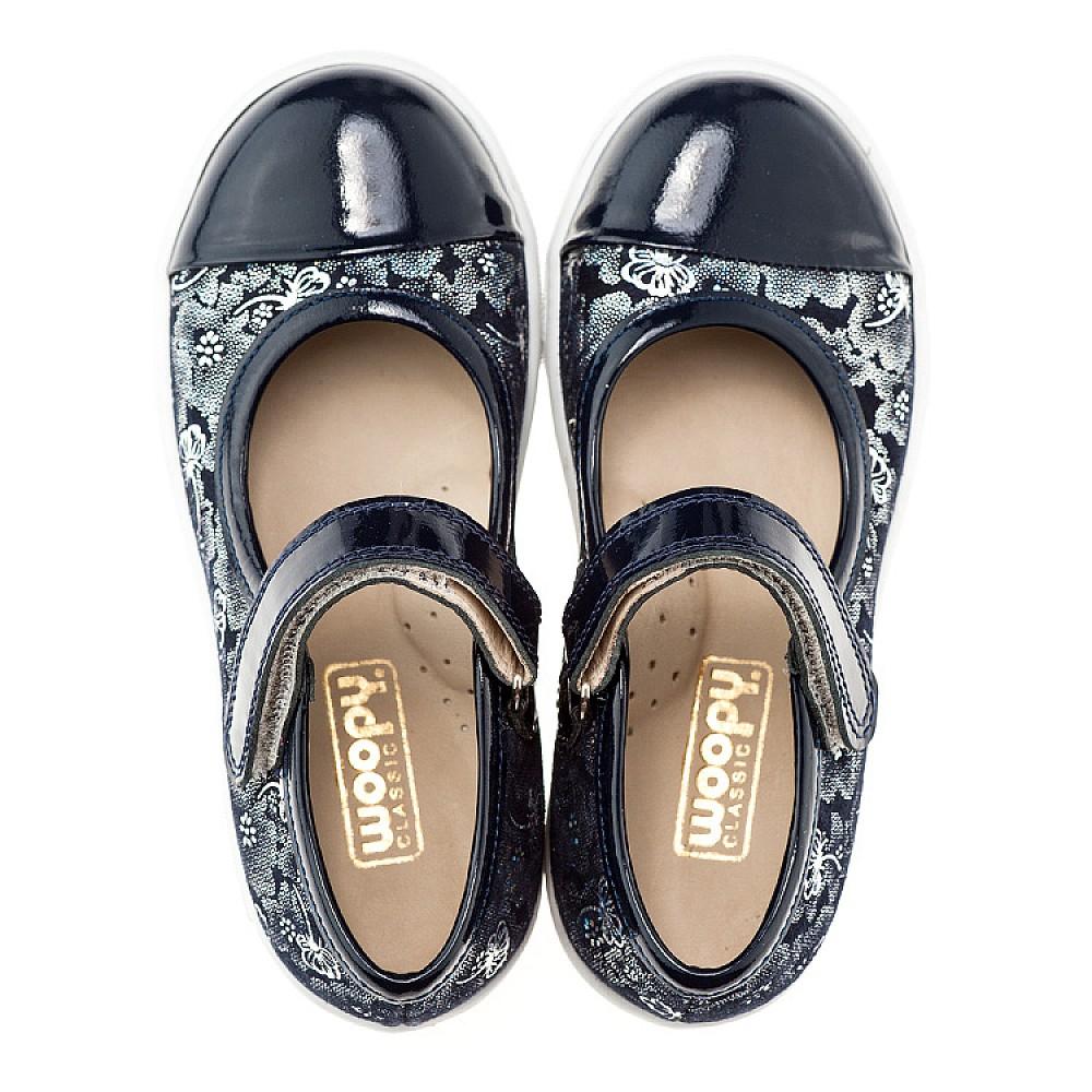 Детские туфли Woopy Orthopedic синий для девочек нубук/лаковая кожа размер 26-36 (1395) Фото 3