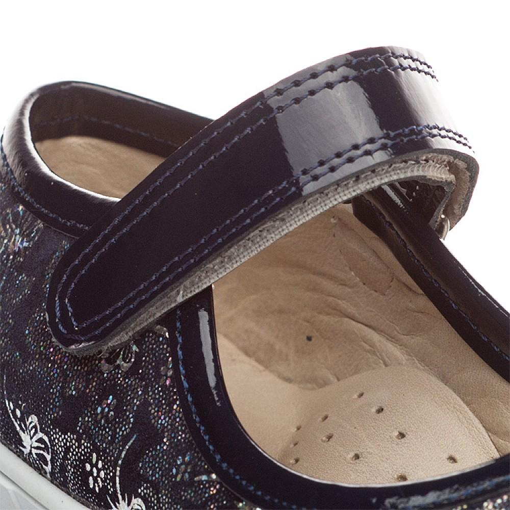 Детские туфли Woopy Orthopedic синий для девочек нубук/лаковая кожа размер 26-36 (1395) Фото 4
