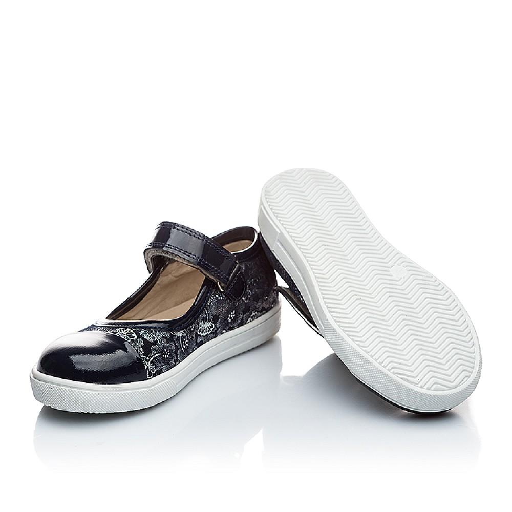 Детские туфли Woopy Orthopedic синий для девочек нубук/лаковая кожа размер 26-36 (1395) Фото 5