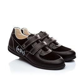 Детские туфли Woopy Orthopedic черный для мальчиков натуральная кожа размер - (1401) Фото 1