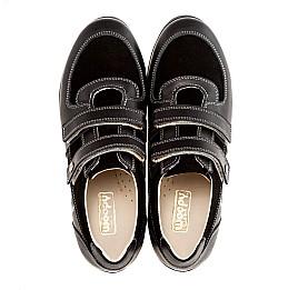 Детские туфли Woopy Orthopedic черный для мальчиков натуральная кожа размер - (1401) Фото 2