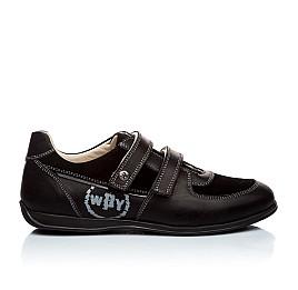 Детские туфли Woopy Orthopedic черный для мальчиков натуральная кожа размер - (1401) Фото 3