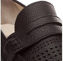 Детские туфли Woopy Orthopedic черный для мальчиков натуральная кожа размер - (1420) Фото 4