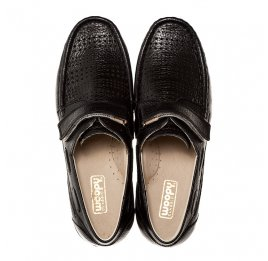 Детские туфли Woopy Orthopedic черный для мальчиков натуральная кожа размер - (1420) Фото 5