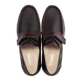 Детские туфли Woopy Orthopedic черные для мальчиков натуральная кожа размер - (1423) Фото 5