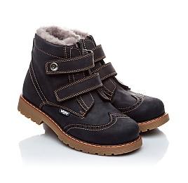 Детские зимние ботинки на меху Woopy Orthopedic темно-синий для девочек нубук-ойл ( это нубук, который в процессе производства защитили от влаги). размер - (1545) Фото 1
