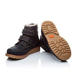 Детские зимние ботинки на меху Woopy Orthopedic темно-синий для девочек нубук-ойл ( это нубук, который в процессе производства защитили от влаги). размер - (1545) Фото 2