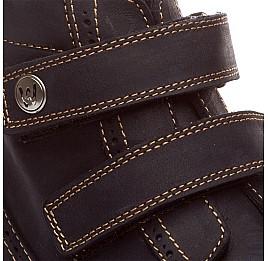 Детские зимние ботинки на меху Woopy Orthopedic темно-синий для девочек нубук-ойл ( это нубук, который в процессе производства защитили от влаги). размер - (1545) Фото 3