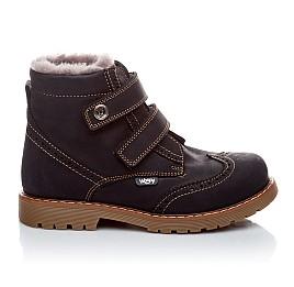 Детские зимние ботинки на меху Woopy Orthopedic темно-синий для девочек нубук-ойл ( это нубук, который в процессе производства защитили от влаги). размер - (1545) Фото 4