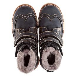 Детские зимние ботинки на меху Woopy Orthopedic темно-синий для девочек нубук-ойл ( это нубук, который в процессе производства защитили от влаги). размер - (1545) Фото 5