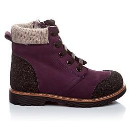 Детские зимние ботинки на меху Woopy Orthopedic фиолетовый для девочек нубук-ойл ( это нубук, который в процессе производства защитили от влаги). размер - (1547) Фото 2