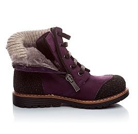 Детские зимние ботинки на меху Woopy Orthopedic фиолетовый для девочек нубук-ойл ( это нубук, который в процессе производства защитили от влаги). размер - (1547) Фото 3