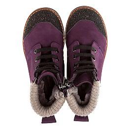 Детские зимние ботинки на меху Woopy Orthopedic фиолетовый для девочек нубук-ойл ( это нубук, который в процессе производства защитили от влаги). размер - (1547) Фото 4