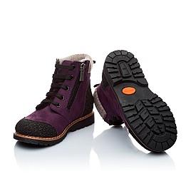 Детские зимние ботинки на меху Woopy Orthopedic фиолетовый для девочек нубук-ойл ( это нубук, который в процессе производства защитили от влаги). размер - (1547) Фото 5