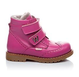Детские зимние ботинки на меху Woopy Orthopedic розовый для девочек натуральная кожа размер - (1553) Фото 2