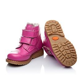 Детские зимние ботинки на меху Woopy Orthopedic розовый для девочек натуральная кожа размер - (1553) Фото 4