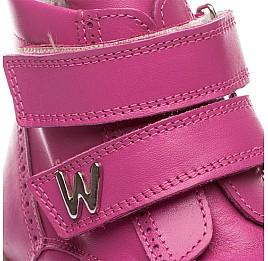 Детские зимние ботинки на меху Woopy Orthopedic розовый для девочек натуральная кожа размер - (1553) Фото 5